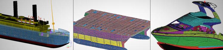当前构建船舶和海上结构的有限元模型