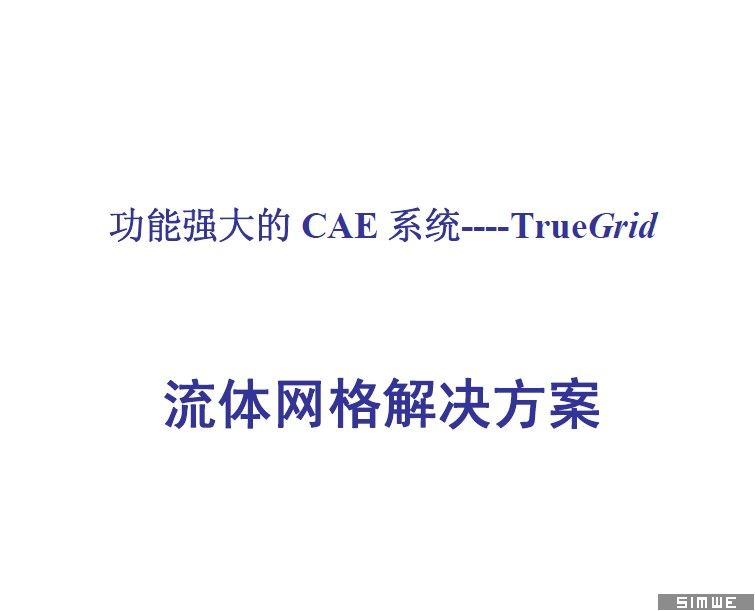 TrueGrid流体网格划分解决方案