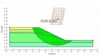 GeoStudio工程应用实例之6 格栅半径滑移面分析边坡安全系数