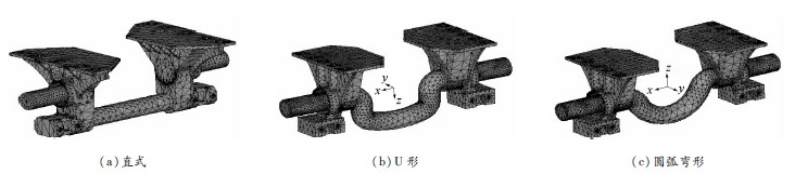颠簸路况下3种结构形式平衡悬架强度分析