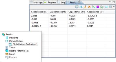 Capacitance and Lumped Parameter Matrices