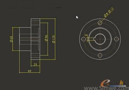 图2 半联轴器的结构尺寸