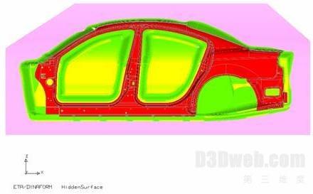 汽车后部钣金结构图解