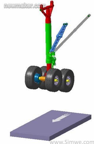 飞机起落架结构及多体动力学模型