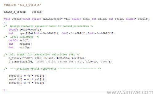 adams2012编译c语言用户子程序