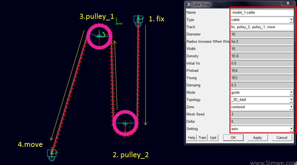 定滑轮和动滑轮_在Adams/Cable中如何使钢丝绳正确缠绕 - MSC技术文章 - 中国仿真互动 ...