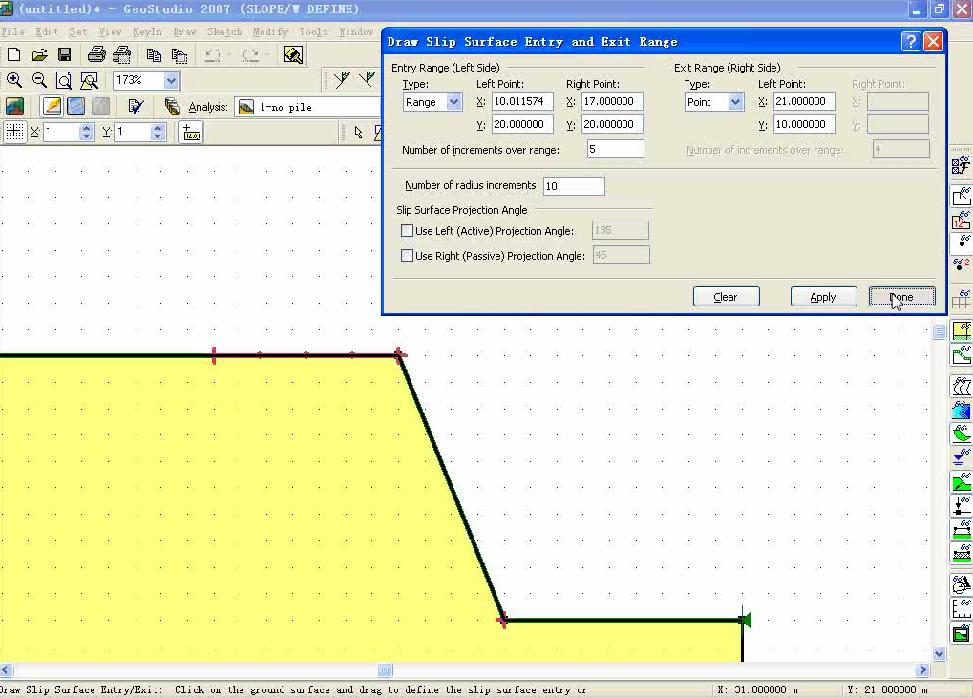 GeoStudio 不同桩机支护条件下边坡稳定性对比分析
