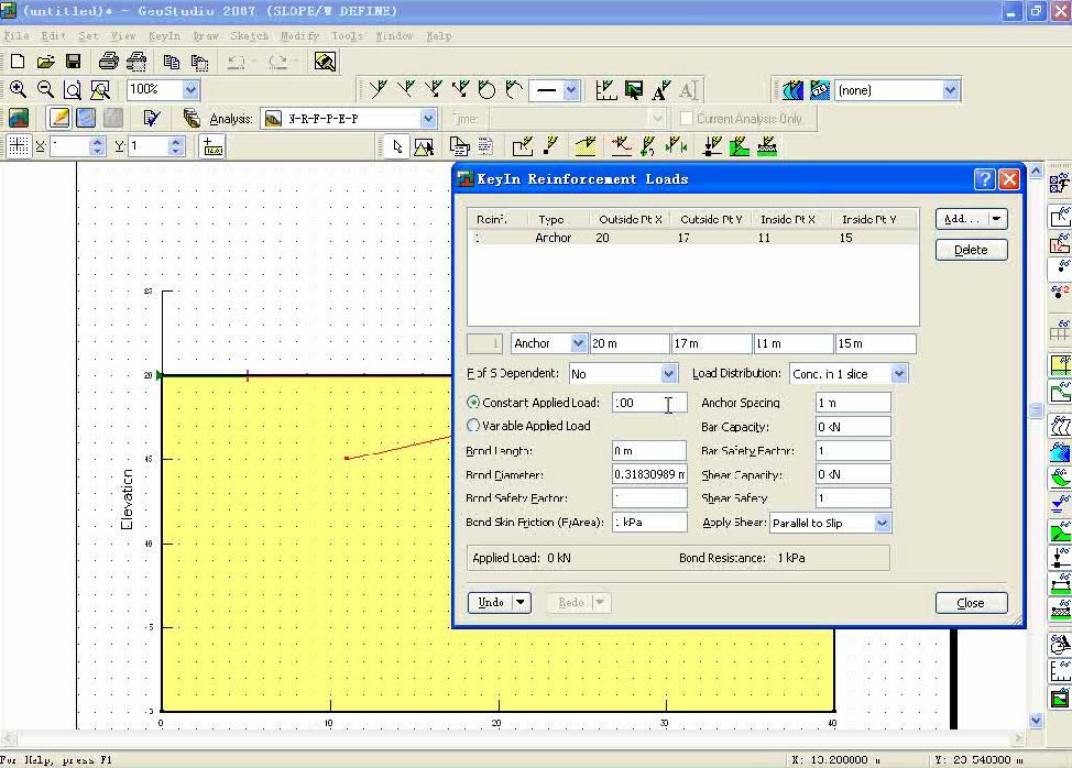 GeoStudio 不同条件下板桩对边坡稳定性的影响对比分析